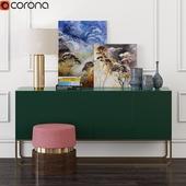 Gorgeous Green Console & Pillar Table Lamp