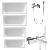 RIHO baths and Newform bath/shower mixer.