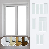 A set of plastic windows and doors 09