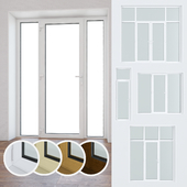 Set of plastic windows and doors 10