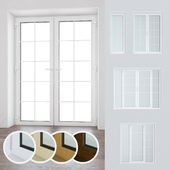 Set of plastic windows and doors 15