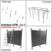 Outodoor GYM - Set 5 (KOMPAN set 1-3)