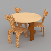 children's table and chairs giraffe