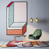 cc-tapis rugs, Foscarini Diesel lamps, ASIA Leather armchair