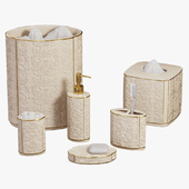 Furla Cream Damask Ceramic Bath Accessories