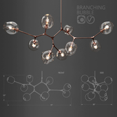 Branching bubble 9 lamps by Lindsey Adelman CLEAR / COPPER