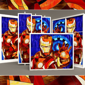 "Stained glass ""Iron Man"""