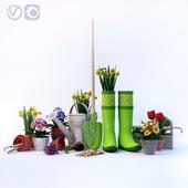Decorative set for garden-garden