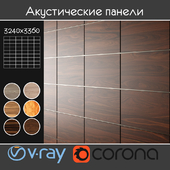 Acoustic decorative panels 6 types, set 18