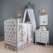 RH / BED COLETTE TUFTED CRIB