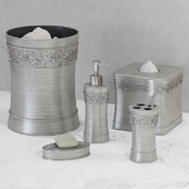 Murano Brushed Silver Bath Accessories