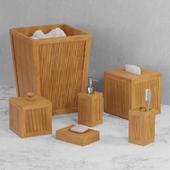 Natural Elements 6 pc Bamboo Bath Accent Set