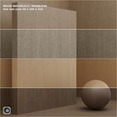 Material wood / veneer (seamless) - set 8