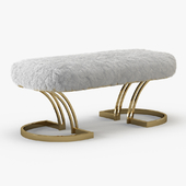 Sheepskin Brass Bench