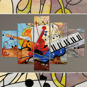 "Stained-glass window ""Musical abstraction"""