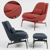 Field Lounge Chair and Field Ottoman