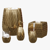 Pina Colada Gold Pineapple Bath Accessories by Croscill