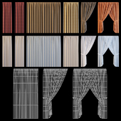 Set of curtains for windows of the exterior