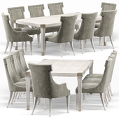 Hayley Hollywood Dining Table and Chairs