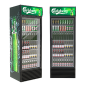 Refrigerated cabinet with drinks