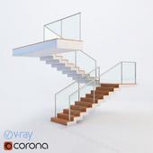 Designer Glass Staircase Railing