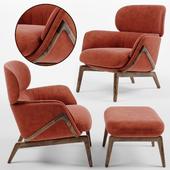 Luca Nichetto Elysia Lounge Chair and Nino Ottoman
