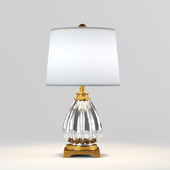 Mercury Glass and Antique Gold Glass and Resin Table Lamp