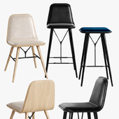 Fredericia Spine Stool Barstool Chair