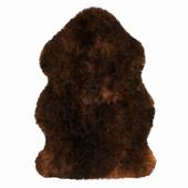 Luxe fudge brown sheepskin rug