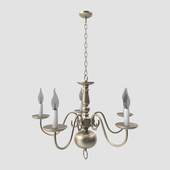 Chandelier Sea Gull Traditional 5 Light Brushed Nickel