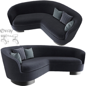 Minotti Jacques Curved Sofa