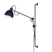 Newrays adjustable antique industrial swing arm wall lamp