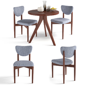 West Elm Tripod Table and Dane Upholstered Dining Chair