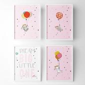 Постеры для детской комнаты - кролик