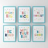 Постеры в детскую с надписями