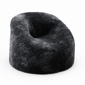 Sheepskin Beanbag Gray