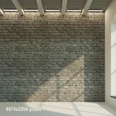 Brick wall. Old painted brick. 13