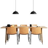 Fredericia Pato Chair & table Taro