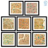 Серия постеров с картами крупнейших городов мира.