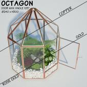 Glass tabletop gazebo | Octagon | Terrarium