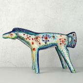 Vintage Italian Ceramic Horse Figurine