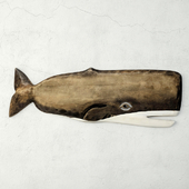 Hand-Carved Whale Wall Art