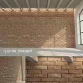 Brick wall (dark brick) 10