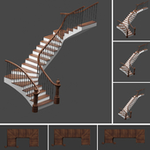 Set of stairs with 3 style