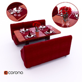 Table with sofas