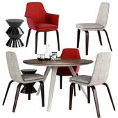 Minotti York Dining Chair Evans Dining Table