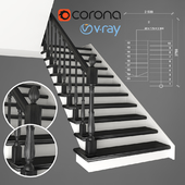 Two-staircase staircase, 2 version