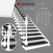 Two-staircase ladder, 3 version