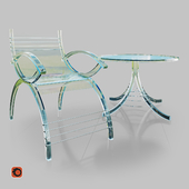 Table and chair Transparent