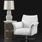 Gordan Lounge Chair, Opher Table, Pipa Lamp